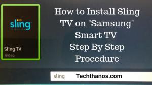 sling tv for samsung tv