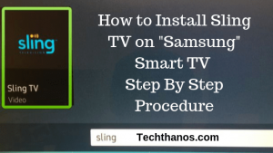 sling tv for samsung tv
