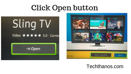 download slingtv on samsung tv