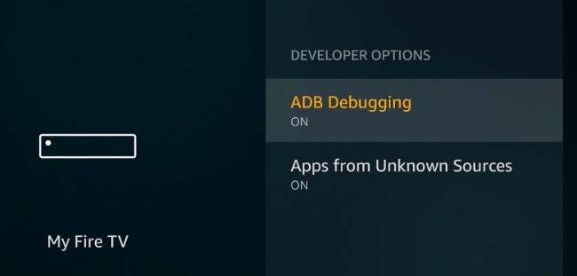 adb debugging, Apps unknown source