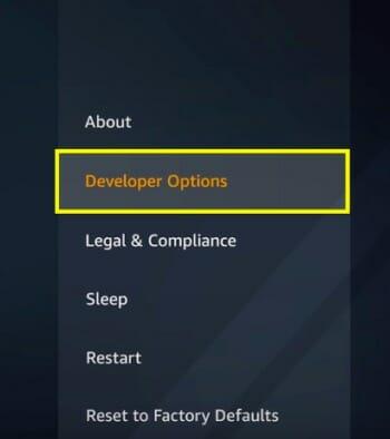 developer option