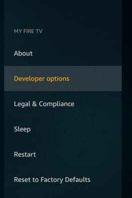 developer options on firestick
