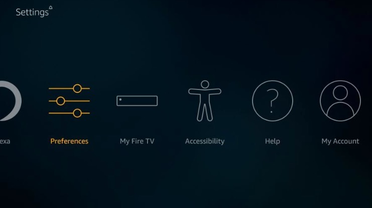 Home page fire stick