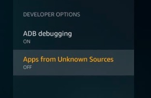Firestick developer option