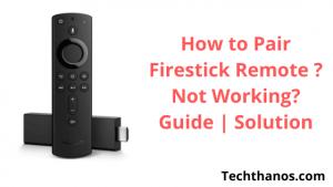 pair firestick remote, not working