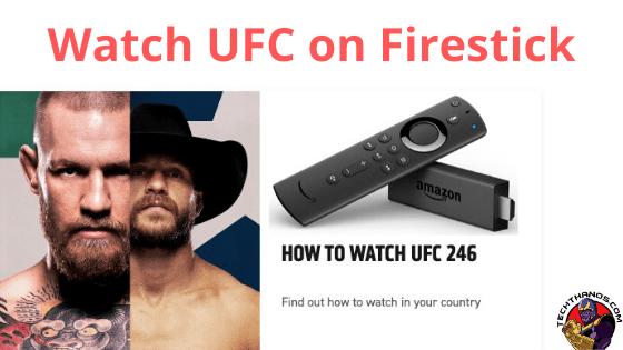 Watch UFC on Firestick