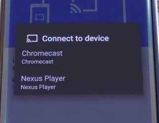 connect to device chromecast
