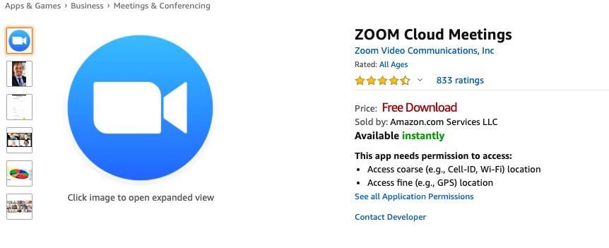 zoom cloud on firestick