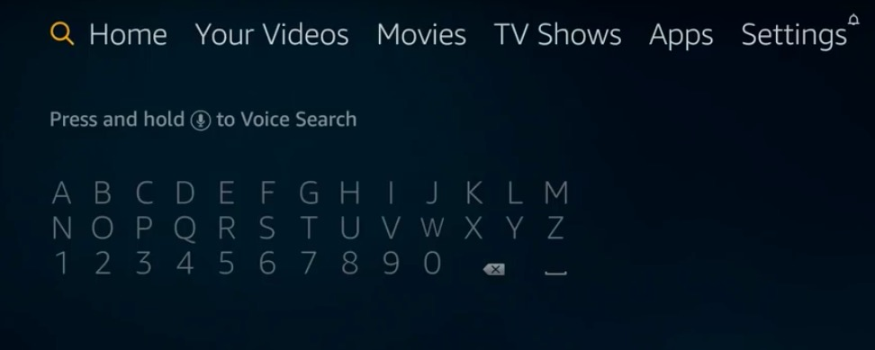 search box on firestick