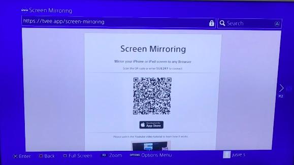 ps4 screen mirroring zoom meeting