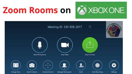 Zoom rooms on Xbox One