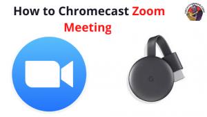 cast Zoom Meeting to chromecast