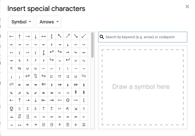 subscript characters