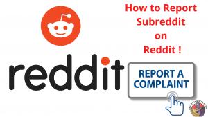 Report Subreddit on reddit
