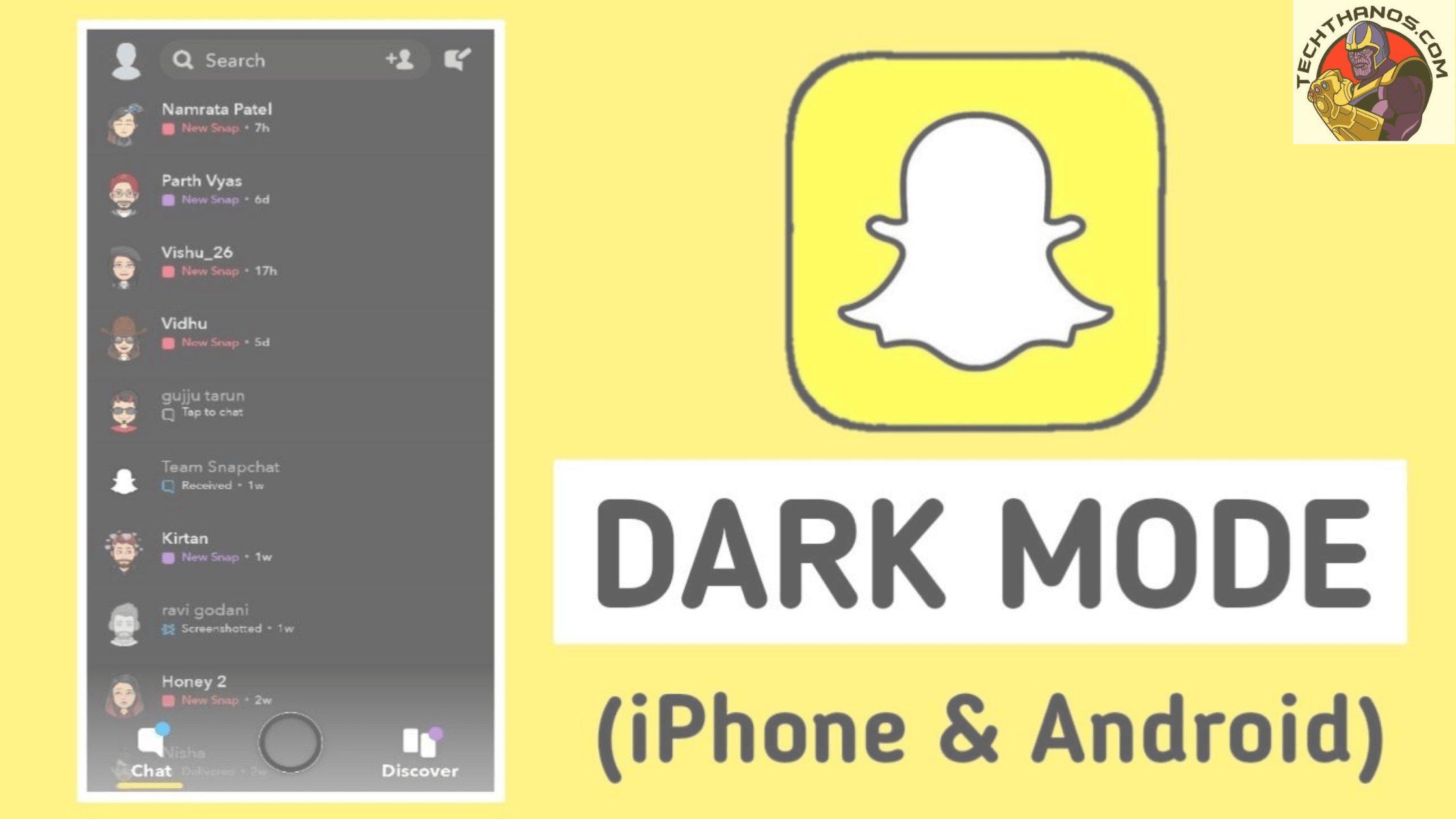 snapchat darkmode