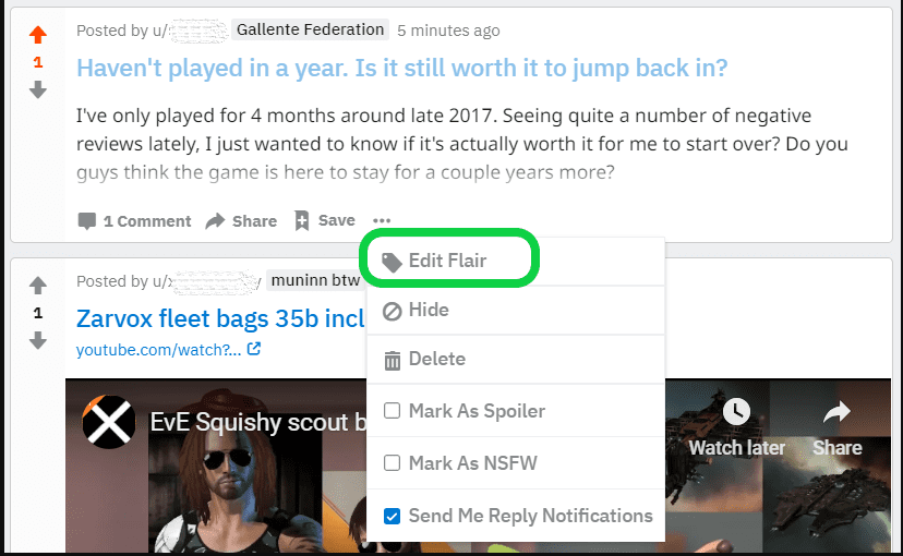 add flair on reddit