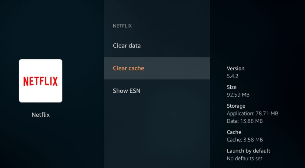 clear cache on firestick