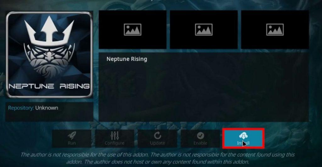 Install Neptune Rising Addon on Kodi
