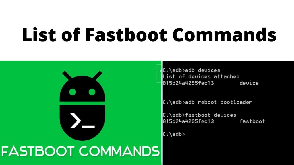 List of Fastboot Commands